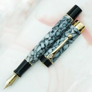 Jinhao 100 Centennial Resin Fountain Pen EF/F/M/ Bent Nib - Gray Marble