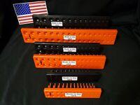 100% Made in theUSA - Hansen 6 Pc SocketTrayOrganizers - Orange and Black