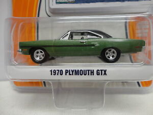 Greenlight 1970 PLYMOUTH GTX Green '70 w/RR GL MUSCLE Series 12