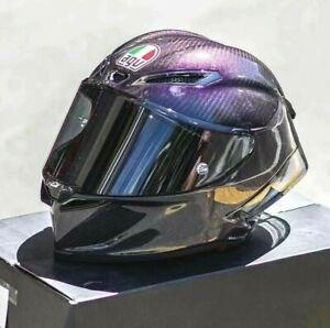 Motorcycle Full Face Helmet Rossi AGV Pista GPR Iridium Carbon Motorbike Helmet