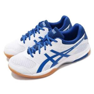Asics Gel-Rocket 8 White Blue Gum Men Volleyball Shoes Sneakers B706Y-124