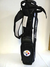 """TaylorMade MicroLite 2.0 Stand Bag """"Steelers"""" Black/White NEW 6313"""