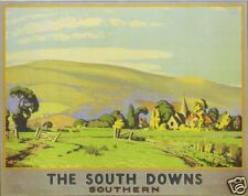 Vintage South Downs Southern Railways Poster A3 reprint