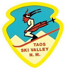 Taos Ski Valley New Mexico Vintage-Looking Travel Decal