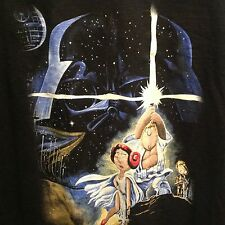 Black Family Guy Star Wars parody Blue Harvest DVD  t shirt XL