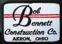 BOB BENNETT CONSTRUCTION EMBROIDERED SEW ON PATCH AKRON OHIO UNIFORM BADGE