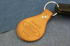 FORD MODEL A 1928 GENUINE TANNED LEATHER KEYCHAIN/FOB