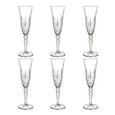 RCR Melodia Italian Crystal Set of 6 Champagne Flutes 16 CL Capacity