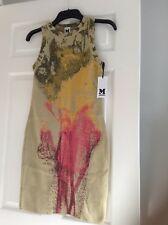 23d203432e7f MISSONI Dress Beige Metallic Tunic Dress Size UK 6, IT 38 RRP £320 BNWT