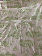 VTG Pottery Barn Kids Pink Gingham Green Drape Panel Pink 44 x 96 French Country
