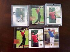 Non Auto Golf Card Lot Tiger Woods, Payne Stewart, Hunter Mahan