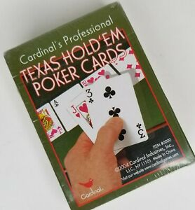 Cardinal's Professional Texas Hold'em Poker Cards New, Sealed 2004