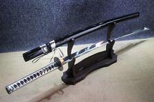 Japanese Handmade Silver Warrior 9260 Spring Steel Katana Samurai Sword