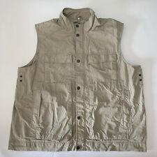 Eddie Bauer Sport  3XL Tall Pocketed Safari Khaki Vest
