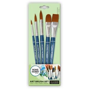 HOMEHOBBY by 3L 5x Synthetic Art Brush Set Watercolour Acrylic Paint High Qualit