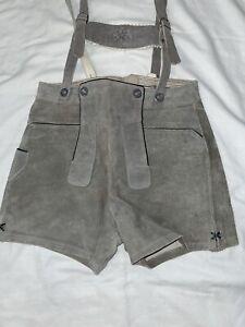 Child's Vintage Suede/Leather German Lederhosen (Circa 1970) size 6/7 GUC