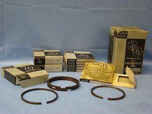 "1933 Chevrolet 6 Piston Ring Set .040"" over NORS Eagle Mercury 181 206 207 rings"
