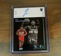 2020 PANINI NOIR RUI HACHIMURA ROOKIE CARD AUTO SP /99 ~ WIZARDS