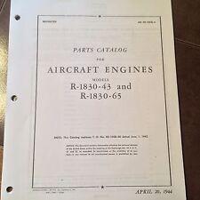 Pratt & Whitney R-1830-43 and R-1830-65 Parts Manual