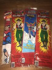 4 Vintage 80's Cartoon Kites Mask, GI Joe, Mask, Superman Hi-flier and Spectra