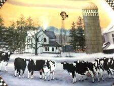 "Danbury Mint Place Called Home Plate Farmstead Reflections Bonnie Mohr Cows 8"""