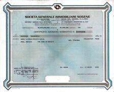 1980 ROMA  GENERALE IMMOBILIARE SOGENE  * AZIONE AUTENTICA  E CIRCOLATA