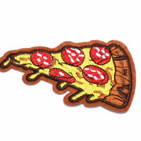 Pizza Slice Italian Fast Food Embroidered Sew Iron On Patch Fabric Applique DIY