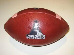 "12/12/2015 Navy Midshipmen vs Army GAME USED BALL ""Damn the Torpedoes"" Football"