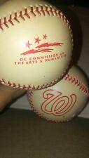 (LOT OF 2) WILSON BASEBALLS DC COMMISSION ON THE ARTS AND HUMANITIES