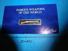 BRITISH LEE ENFIELD 1902 RIFLE FAMOUS WEAPONS WORLD CARDED LINCOLN SILVER BAR