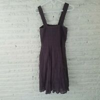 Vintage Free People Womens Dress Size Medium Muted Purple Flare Tube Torso Lined