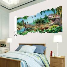 Large 3D View Dinosaur Wall Crack Sticker Art Decal Mural Kid Bedroom Home Decor