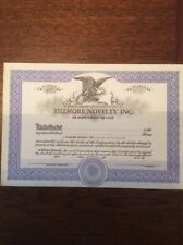 Fillmore Novelty Inc Un-Issued Certificates Invalid  SHARE CERTIFICATE
