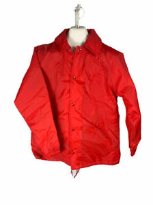 Vintage Unbranded Snap Up Lined Jacket Youth Size XL 18-20 Coaches Wind Breaker