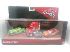Disney Pixar Cars 3 Diecast Racing 3-pack Mack. Mcqueen & Chick Hicks New