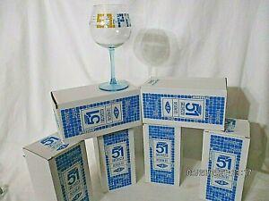 LOT 6 VERRES PASTIS 51 PISCINE DESIGN BY TABAS  EN BOITE no Ricard -NEUFS
