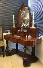 Victorian Mahogany Mirror Backed Duchess Dressing Table