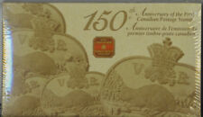 2001 CANADA 3 Cent Gold Plated Coin & Postage Stamp Set 150th Anniversary MINT