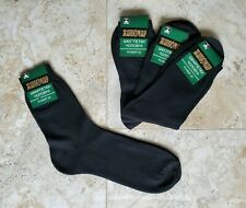 Socks 100% Cotton ONLY Black Dress Casual Crew 4 Pairs Sz 7-9 NWT from Europe