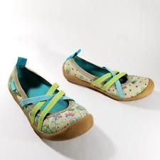 Chooze Floral Print Slip On Strappy Ballet Flats   Kids size 33 Us 2 Youth