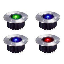 4x Wireless Solar Powered RBG Colour Changing LED Garden Deck Decking Lights