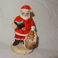 "Santa Claus Standing Book Toys Figurine Ceramic 4"" Table Top"
