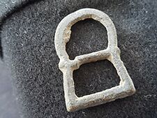 Very nice post Medieval bronze buckle uncleaned condition found in Britain L40n