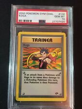 Pokemon 2000 Gym Challenge Koga PSA GEM MINT 10 EXTREMELY RARE!