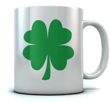 St. Patrick's Day Green Clover Coffee Mug Lucky Shamrock Sturdy Ceramic Mug