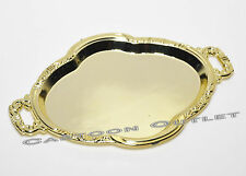 12 pc GOLD TRAYS PLASTIC PLATTER PARTY FAVORS RECUERDOS DIY CRAFTS BRIDAL Plates