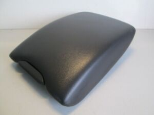 2010-2013 VOLVO XC60 CONSOLE LID ARM REST ARMREST TOP OEM BLACK LEATHER COVER