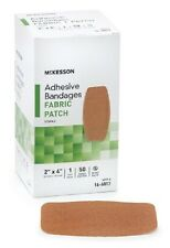 "50 Rectangle Adhesive Bandages Sterile Fabric Patch 2"" x 4"" MCKESSON 16-4817"