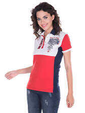 Giorgio Di Mare Womens Yachting Polo Shirt Size Small 8-10 BNWT Red White Blue