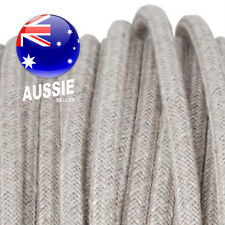 Natural LINEN vintage style textile fabric electrical cord cloth cool cable 1m.
